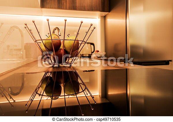 intérieur, moderne, cuisine - csp49710535