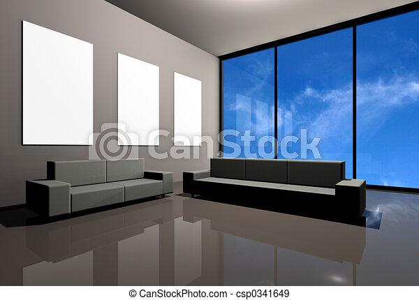 intérieur, moderne - csp0341649