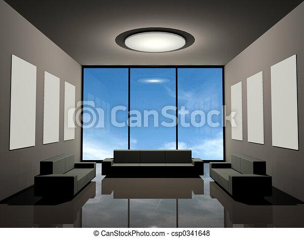 intérieur, moderne - csp0341648
