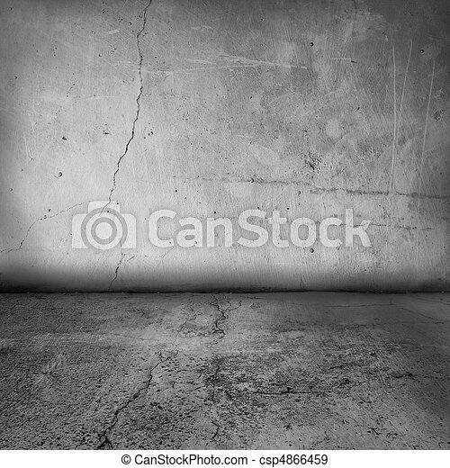 intérieur, mur, grunge, plancher - csp4866459
