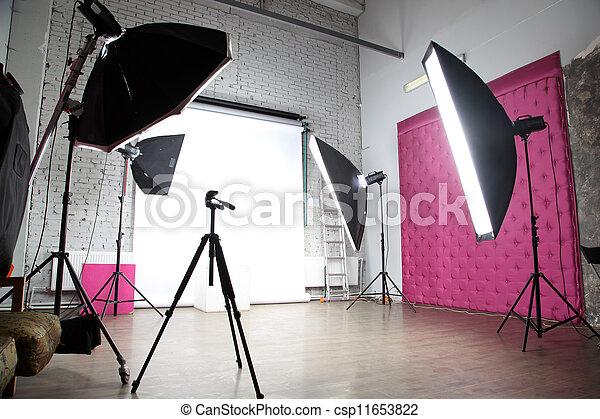 intérieur, photo, moderne, studio - csp11653822