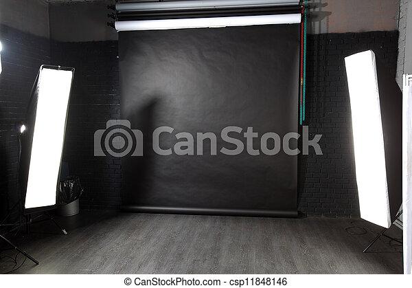 intérieur, photo, moderne, studio - csp11848146