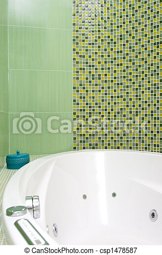 intérieur, salle bains, moderne - csp1478587