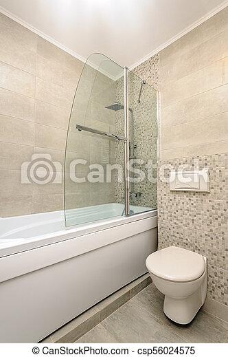 Intérieur, salle bains, moderne. Salle bains, moderne, apartment\'s ...