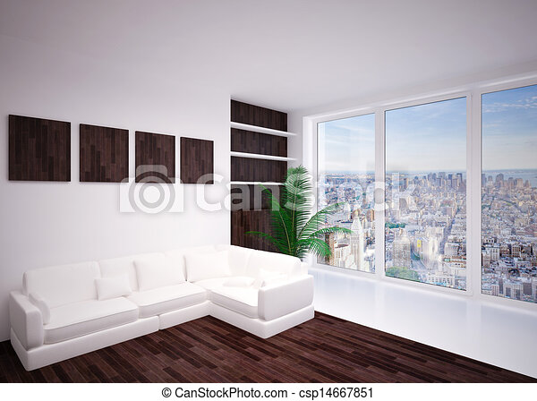 intérieur, salle de séjour, moderne, salon