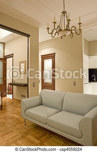 intérieur, salle de séjour - csp4559224