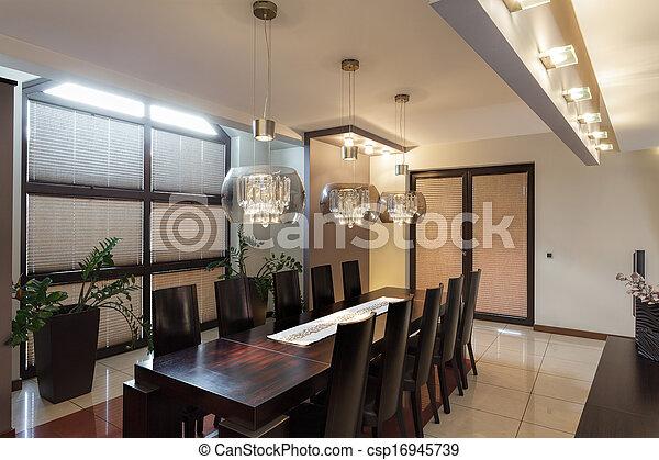 intérieur, salle manger - csp16945739
