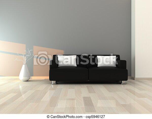 intérieur, salle moderne - csp5946127