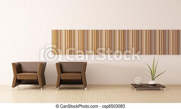 intérieur, salle moderne, render, 3d - csp6503083