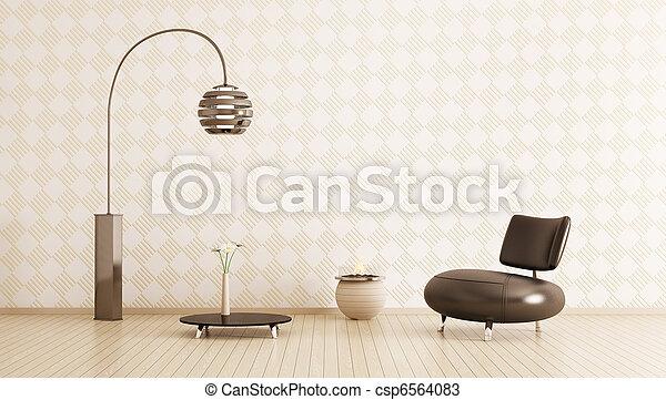 intérieur, salle moderne, render, 3d - csp6564083