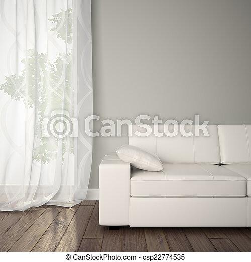 intérieur, sofa, partie - csp22774535