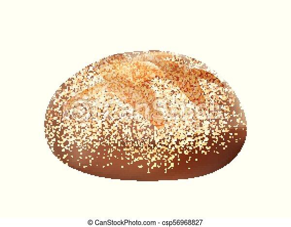 integrale, pagnotta, 3d, isolato, bread - csp56968827