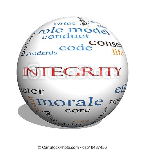 Integrity 3D sphere Word Cloud Concept - csp18437456