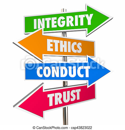 integrity arrow signs honesty conduct trust 3d illustration stock rh canstockphoto com honesty clipart images honesty clipart black and white