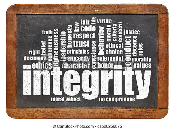 integrity word cloud on blackboard - csp26256875