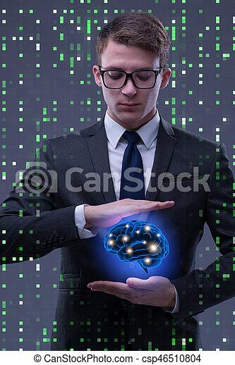 inteligência, conceito, artificial, homem negócios - csp46510804