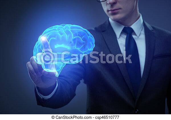 inteligência, conceito, artificial, homem negócios - csp46510777