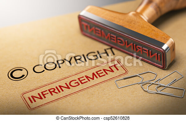 Intellectual Property Rights Concept, Copyright Infringement - csp52610828