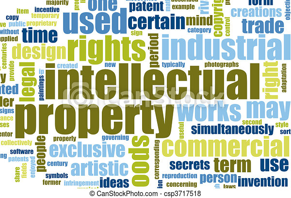 intellectual property concept word cloud as art how a space lock works