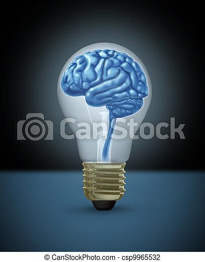 Intelligence and Creativity concept - csp9965532