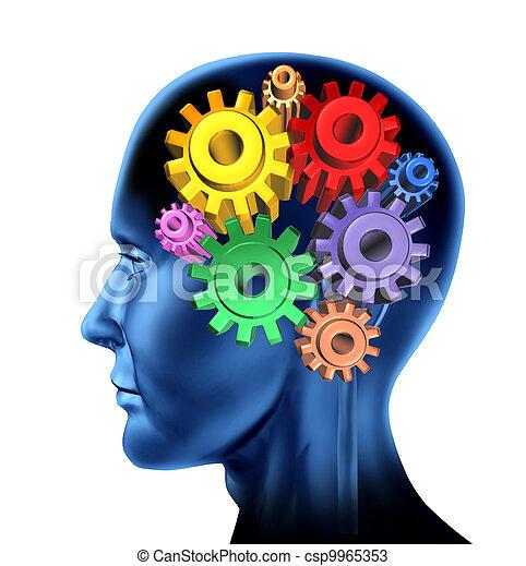 intelligence brain function - csp9965353