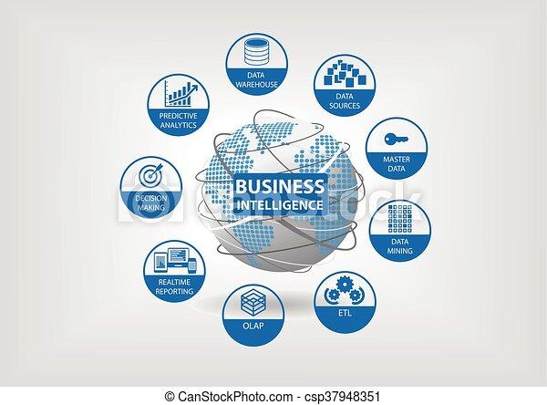 intelligence, concept, business - csp37948351