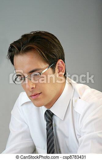 Intelligent businessman - csp8783431