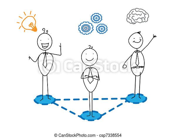 Intelligent, idée, progrès, bon, business. Vecteur, homme affaires, intelligent, bon, progrès ...