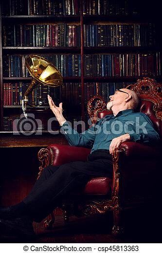 intelligent senior man - csp45813363
