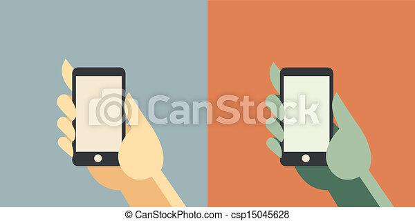 intelligent, téléphone - csp15045628
