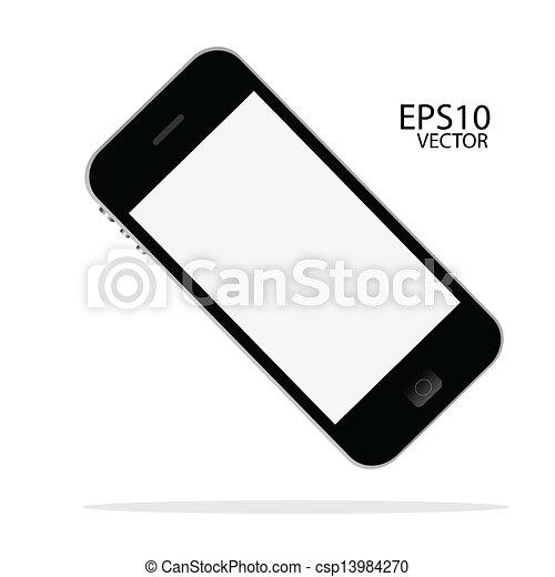 intelligent, téléphone - csp13984270