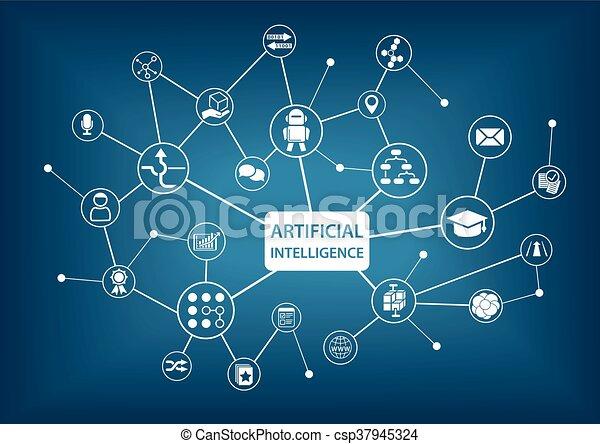 intelligentie, (ai), kunstmatig - csp37945324