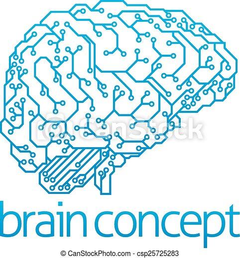 intelligentie, concept, kunstmatig - csp25725283