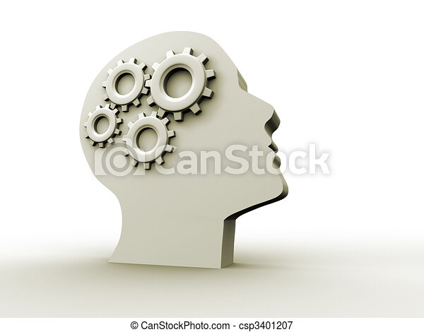 intelligentie, concept - csp3401207