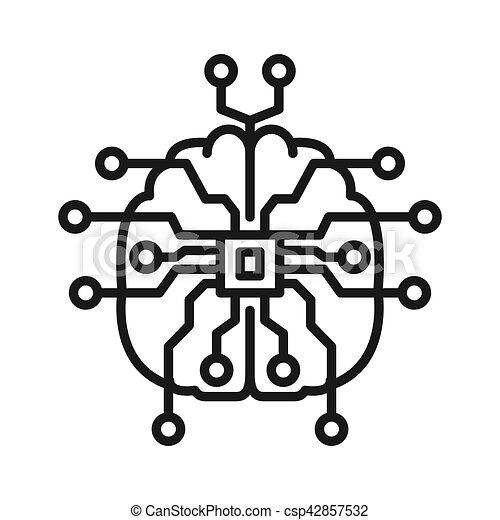 intelligentie, ontwerp, illustratie, artifical - csp42857532