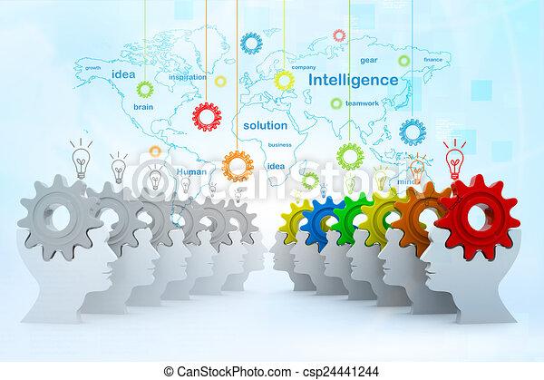 intelligenza, concetto - csp24441244