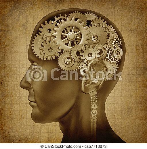 intelligenza, grunge, umano, struttura - csp7718873