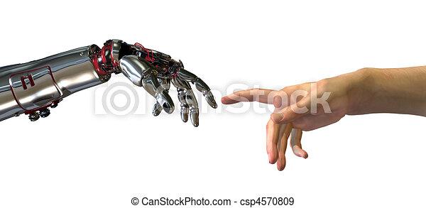 intelligenza, nascita, artificiale - csp4570809