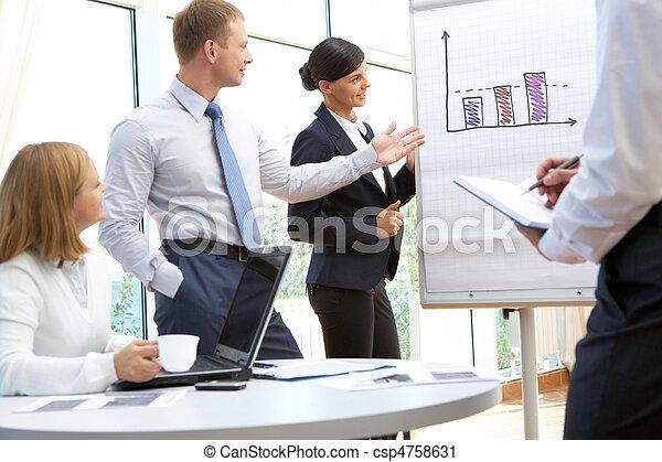 Interacción de negocios - csp4758631