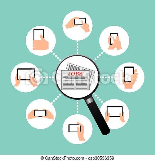 Intercambio de empleo - csp30536359