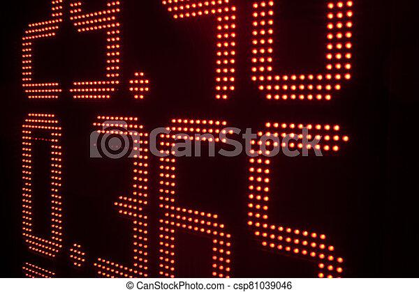 intercambio, moneda, tasas, tabla - csp81039046