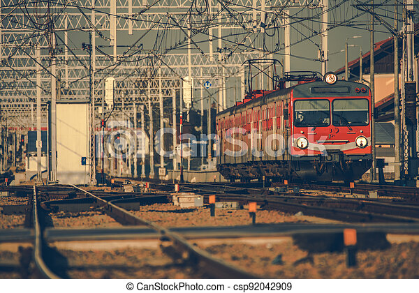 Intercity Passenger Train on the Route - csp92042909