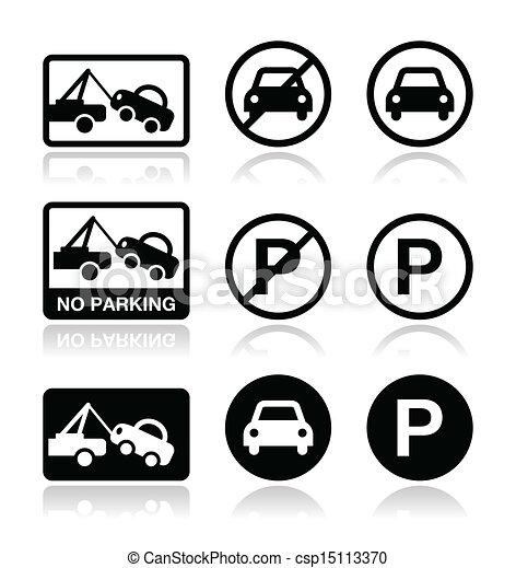 Interdit signe stationnement stationnement interdit illustration vecteurs rechercher - Coloriage car wash ...