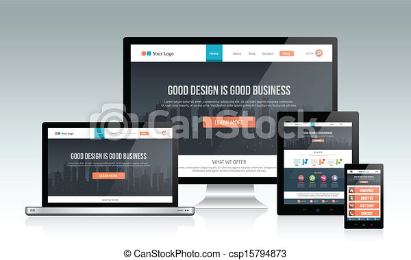 interessiert, website, design - csp15794873