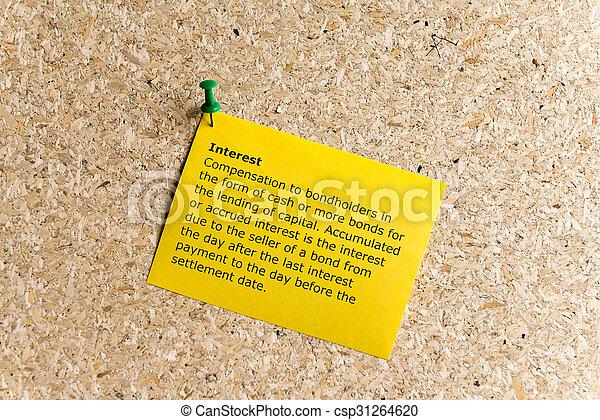 interest - csp31264620