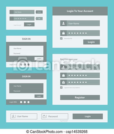 interface, ensemble, utilisateur, formulaire - csp14539268