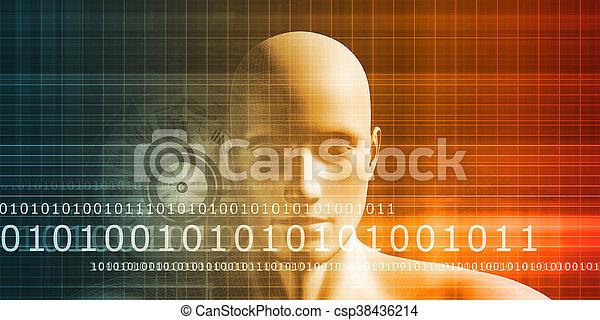 interface, futuriste - csp38436214