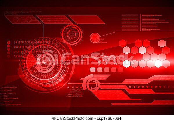 interface, futuriste, technologie - csp17667664