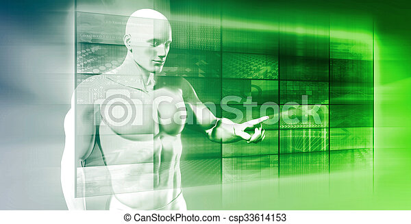 interface, futuro, tecnologia - csp33614153