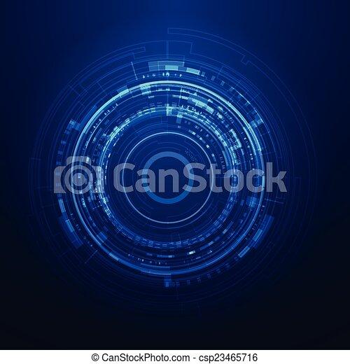 interface, graphique, utilisateur, futuriste - csp23465716